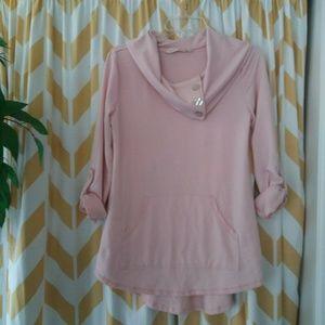 Soft Surroundings Size XS Light Pink knit tunic